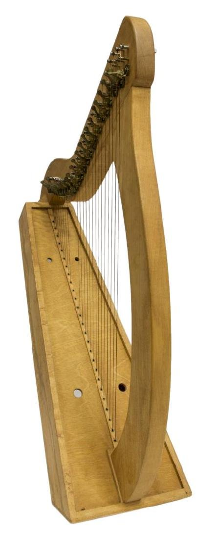 VINTAGE MAPLE 26-STRING IRISH LAP HARP - 2