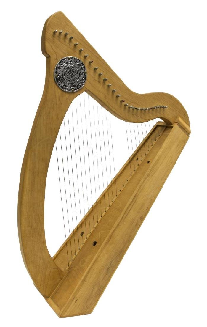 VINTAGE MAPLE 26-STRING IRISH LAP HARP - 3