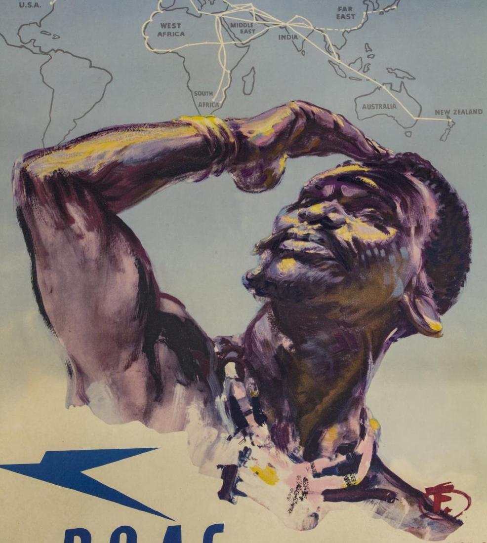 B.O.A.C UK TO SOUTH AFRICA H FORSTER TRAVEL POSTER - 2