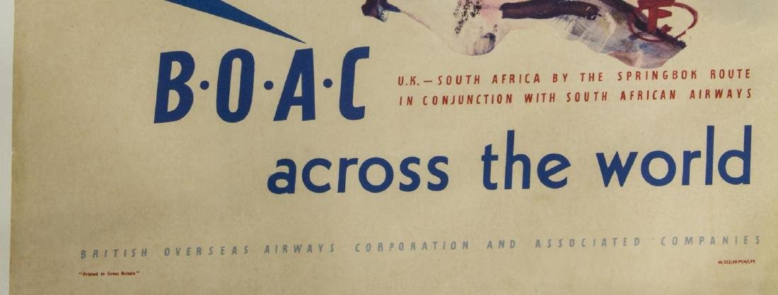 B.O.A.C UK TO SOUTH AFRICA H FORSTER TRAVEL POSTER - 3