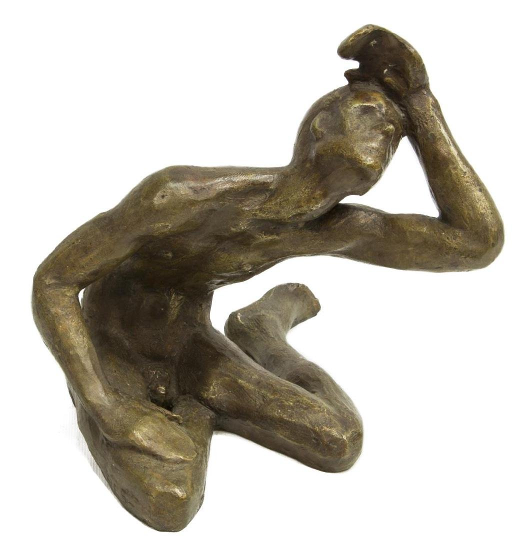 VICTOR SALMONES PATINATED BRONZE SCULPTURE