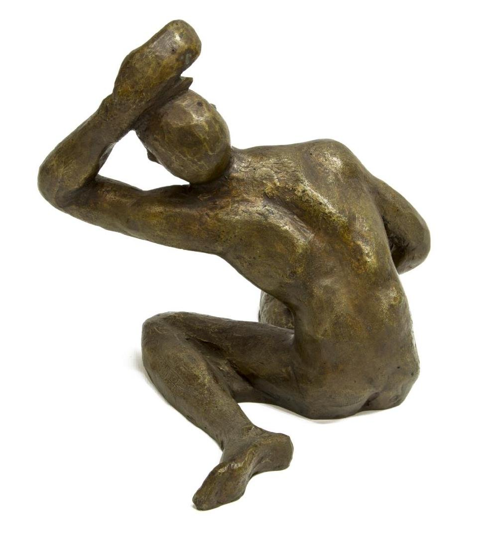 VICTOR SALMONES PATINATED BRONZE SCULPTURE - 2