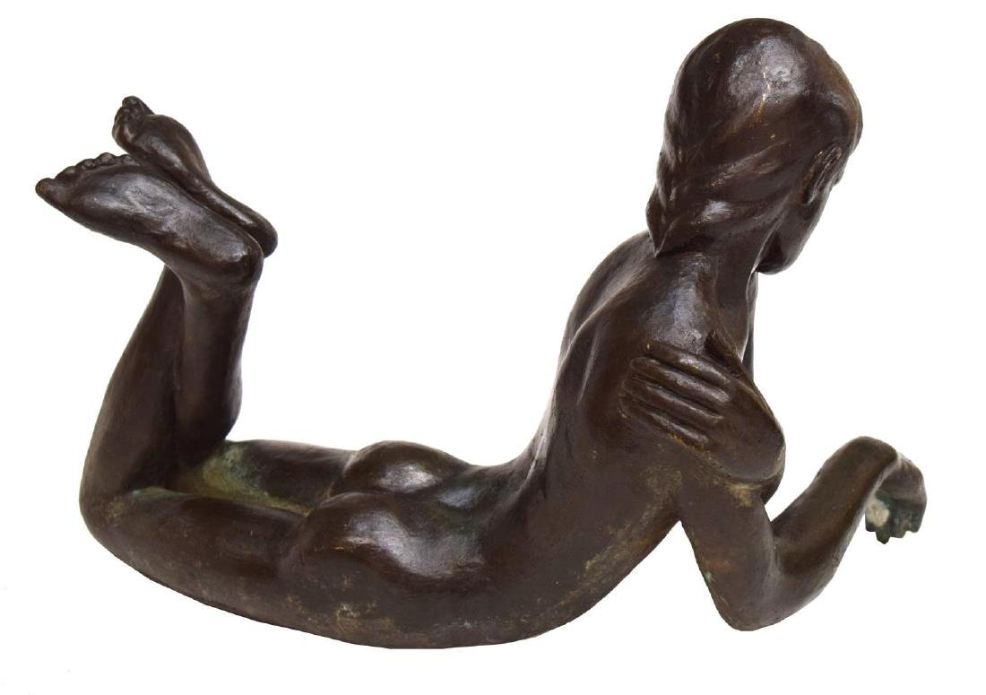 VICTOR SALMONES PATINATED BRONZE SCULPTURE - 4