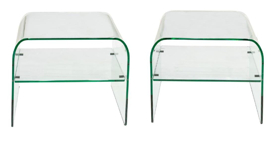 2) AFTER PIEOTRO CHIESA ALL-GLASS SIDE TABLES - 2