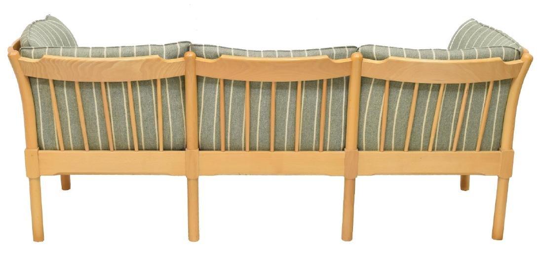 DANISH MODERN THREE SEAT BEECH SOFA - 3