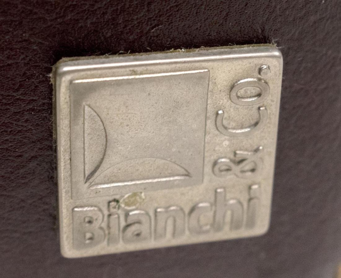 (2) BIANCHI & CO LEATHER BARREL FORM CLUB CHAIRS - 3