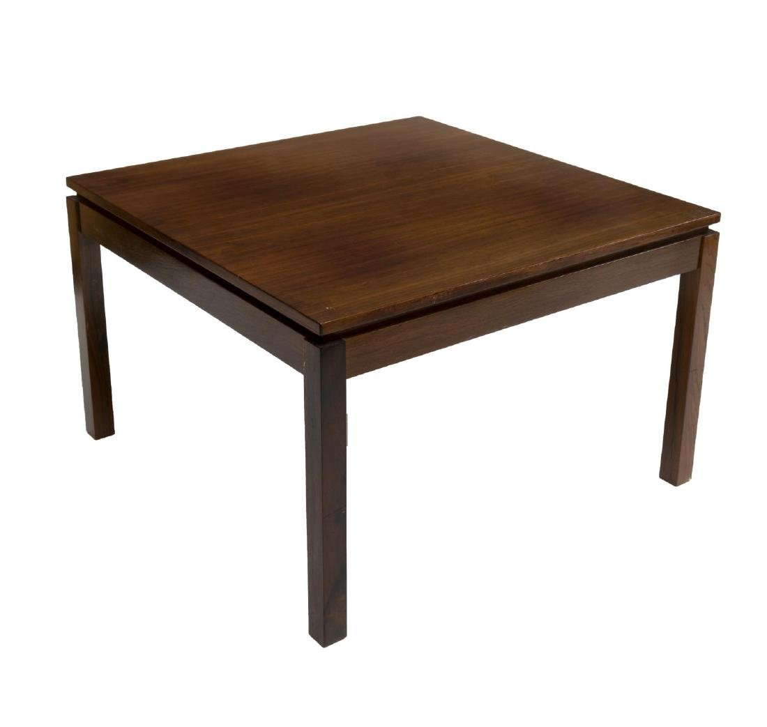 DANISH MID-CENTURY MODERN DARK TEAK COFFEE TABLE