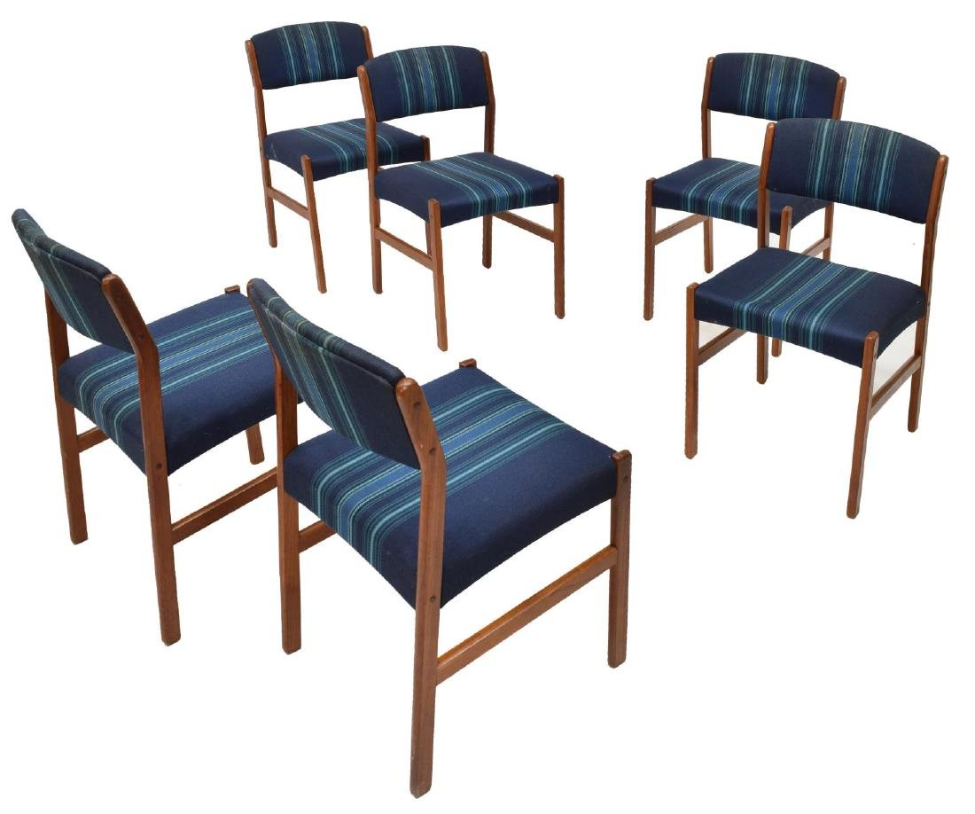 (6) DANISH MID-CENTURY MODERN DINING CHAIRS