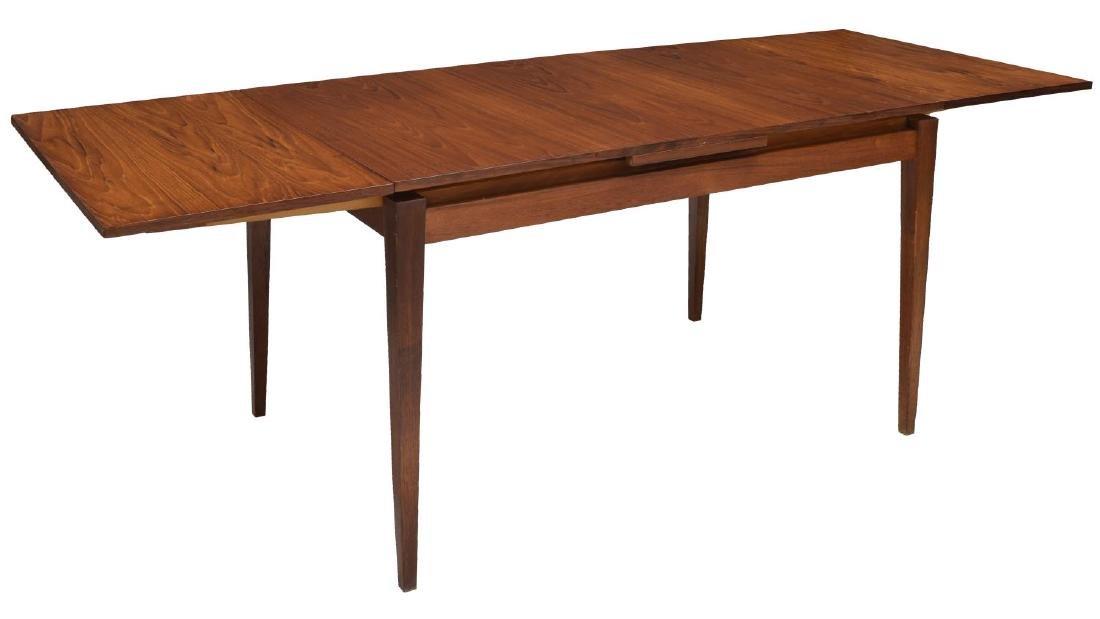 DANISH MID-CENTURY TEAK DRAWLEAF DINING TABLE