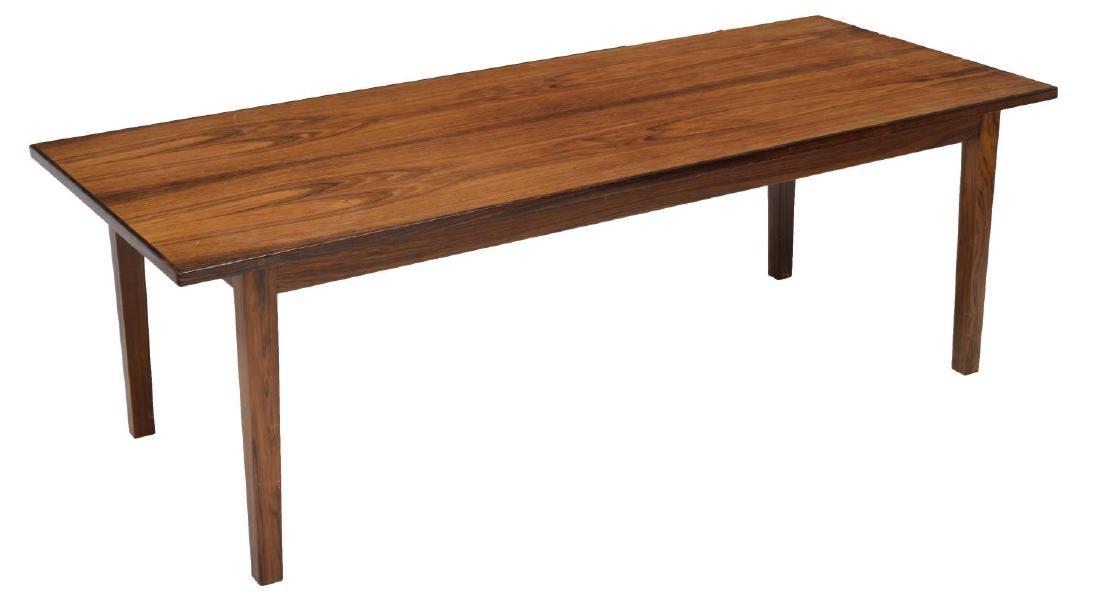 DANISH MID-CENTURY MODERN ROSEWOOD COFFEE TABLE