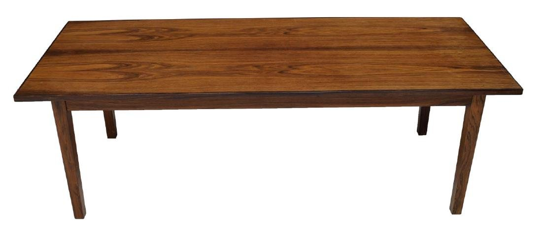 DANISH MID-CENTURY MODERN ROSEWOOD COFFEE TABLE - 2