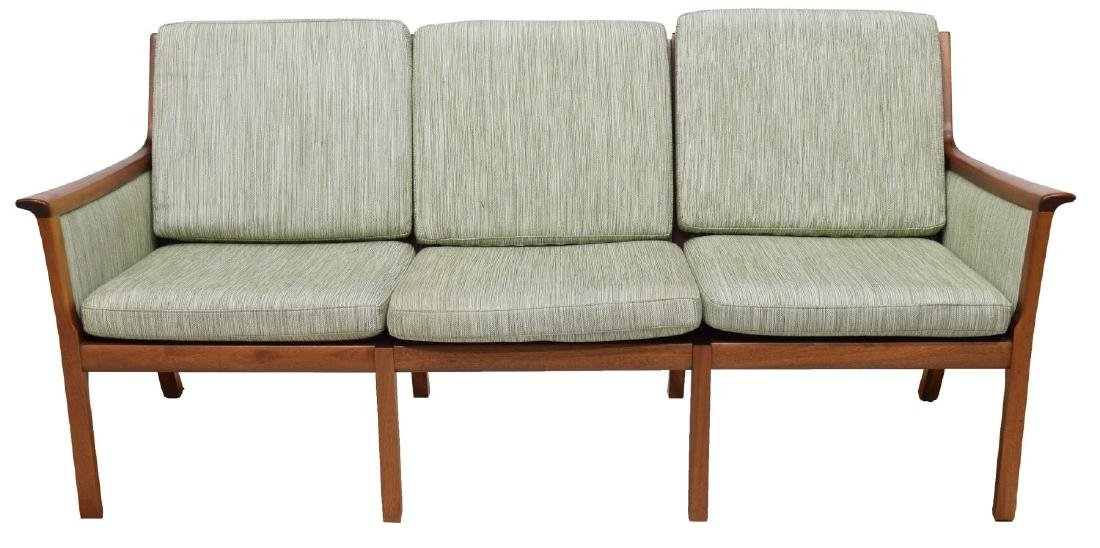 DANISH MODERN THREE-SEAT SOFA - 2
