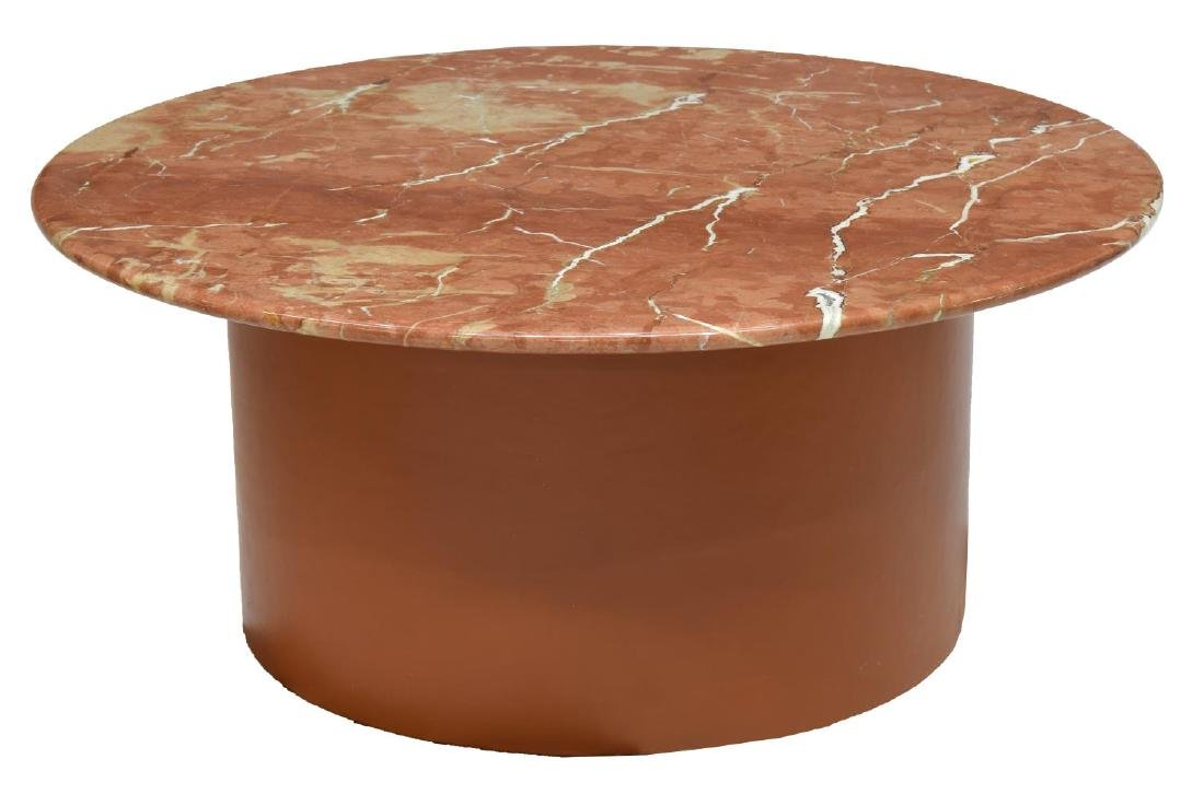 CIRCULAR MARBLE TOP COFFEE TABLE
