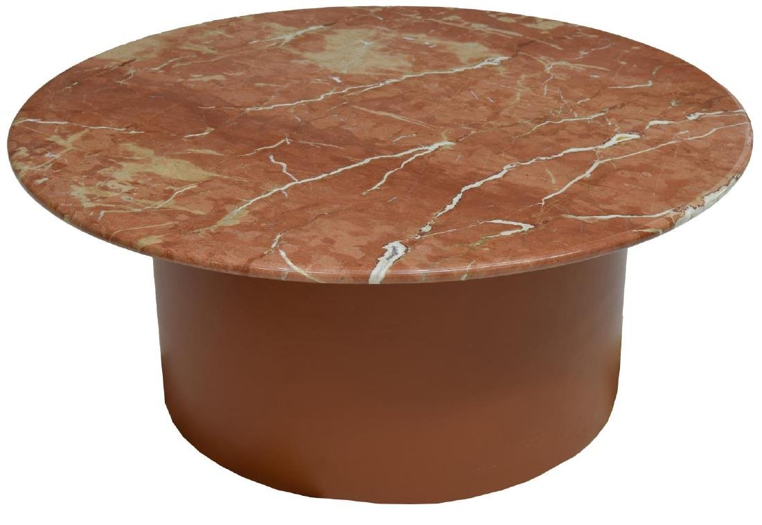 CIRCULAR MARBLE TOP COFFEE TABLE - 2