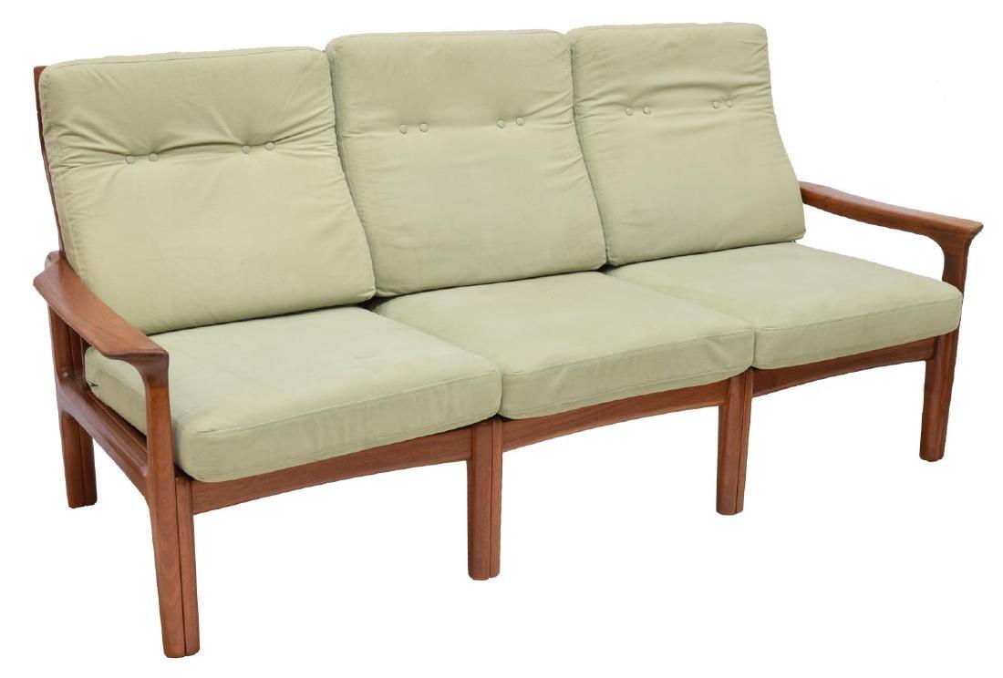 DANISH MID-CENTURY MODERN THREE-SEAT TEAK SOFA