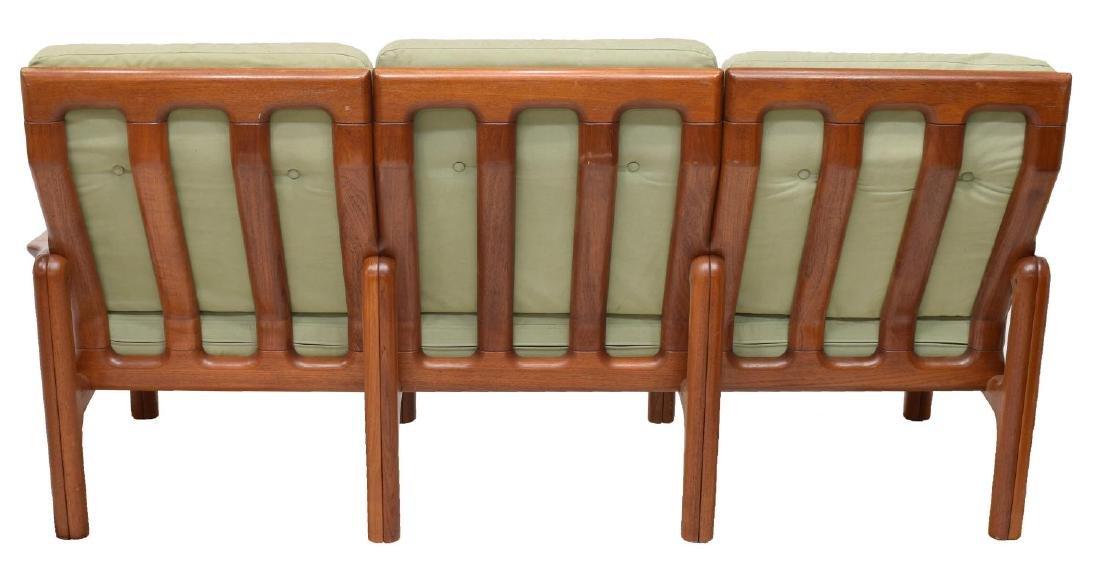 DANISH MID-CENTURY MODERN THREE-SEAT TEAK SOFA - 3