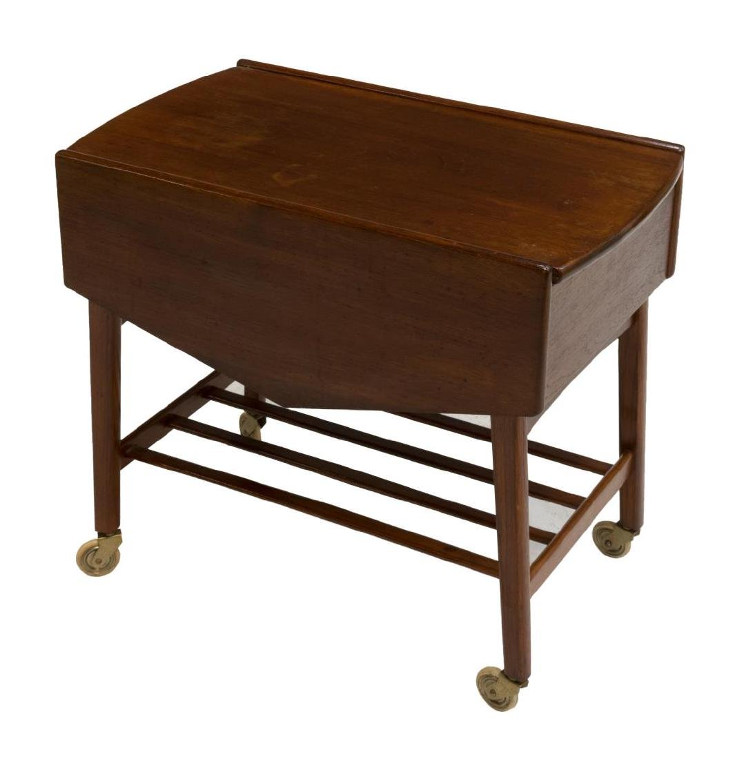 DANISH MID-CENTURY MODERN TEAK SEWING/ TASK TABLE