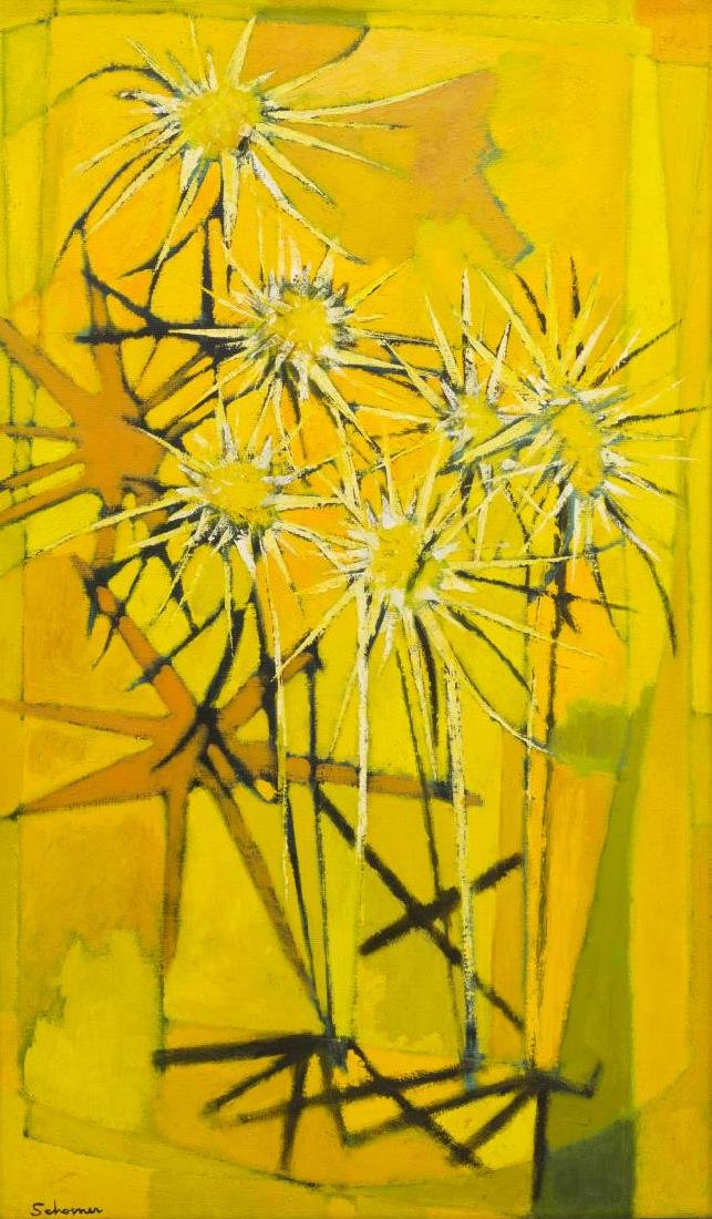 JASON SCHOENER (1919-1997) ABSTRACT FLORAL - 4