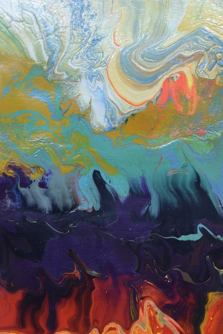 SKY JONES (B.1947) FRAMED MODERN ACRYLIC PAINTING - 3