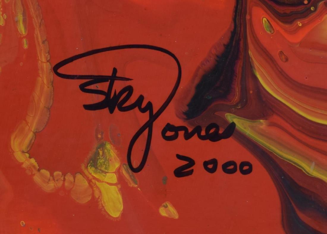 SKY JONES (B.1947) FRAMED MODERN ACRYLIC PAINTING - 4
