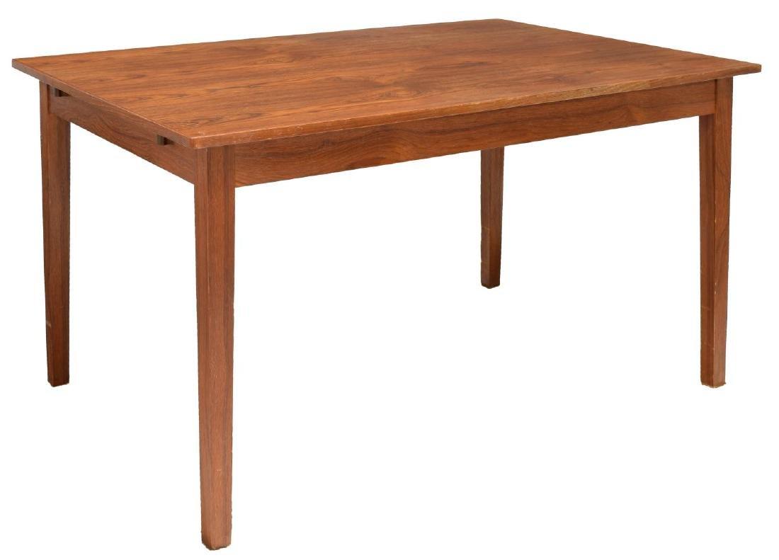 DANISH MID-CENTURY MODERN TEAKWOOD DINING TABLE