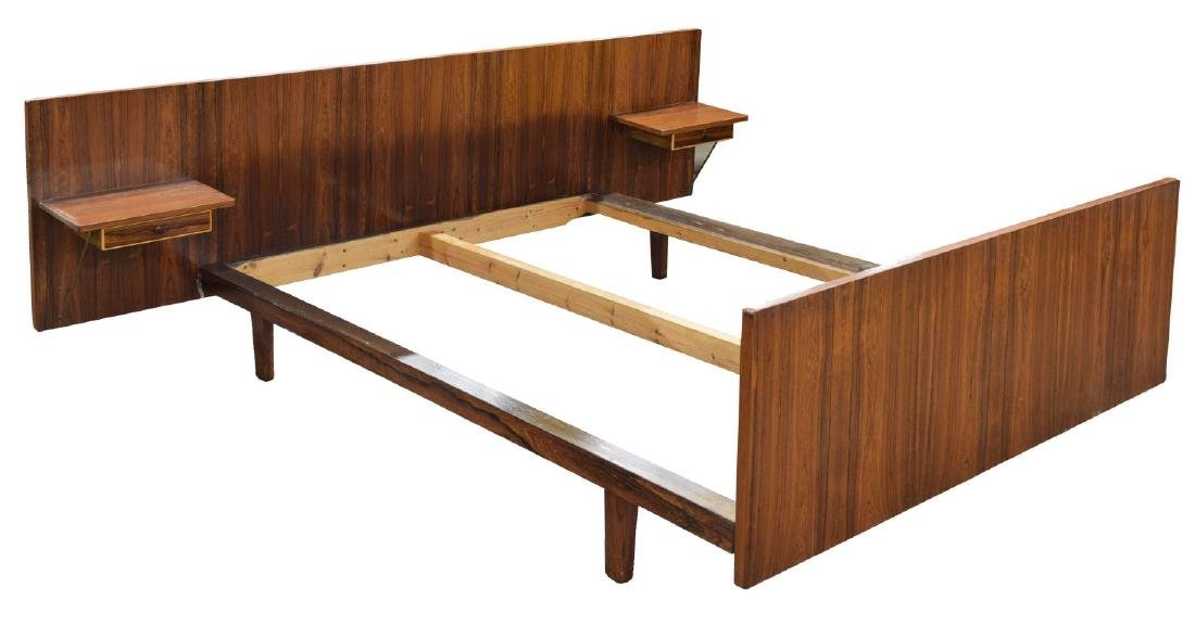 DANISH MID-CENTURY MODERN ROSEWOOD BED