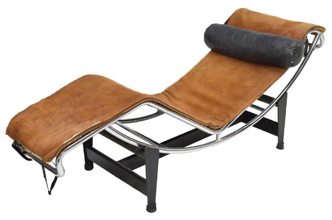 SIGNED LE CORBUSIER CHAISE LOUNGE #LC4, COWHIDE