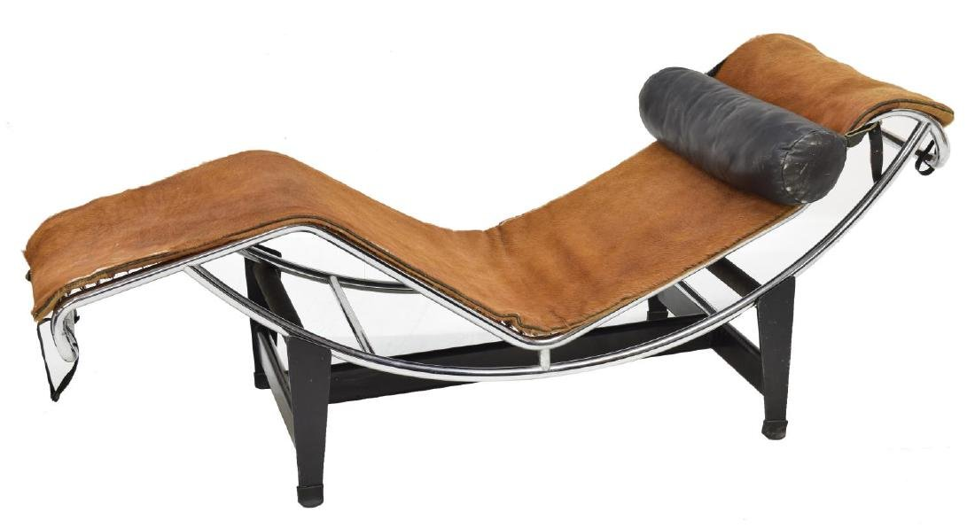 SIGNED LE CORBUSIER CHAISE LOUNGE #LC4, COWHIDE - 2