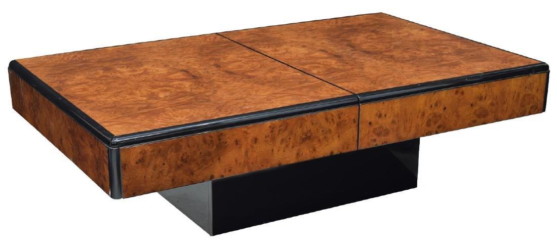 ITALIAN MODERN BURLWOOD BAR TABLE, WILLY RIZZO - 3