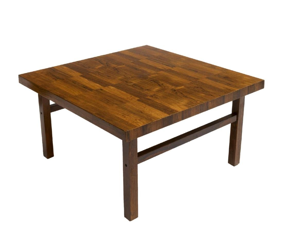 DANISH MID-CENTURY PATTERNED ROSEWOOD COFFEE TABLE