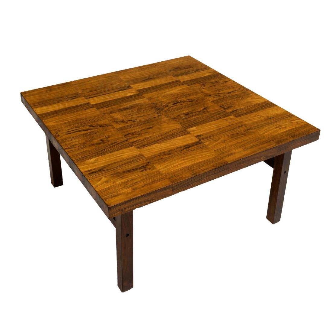 DANISH MID-CENTURY PATTERNED ROSEWOOD COFFEE TABLE - 2
