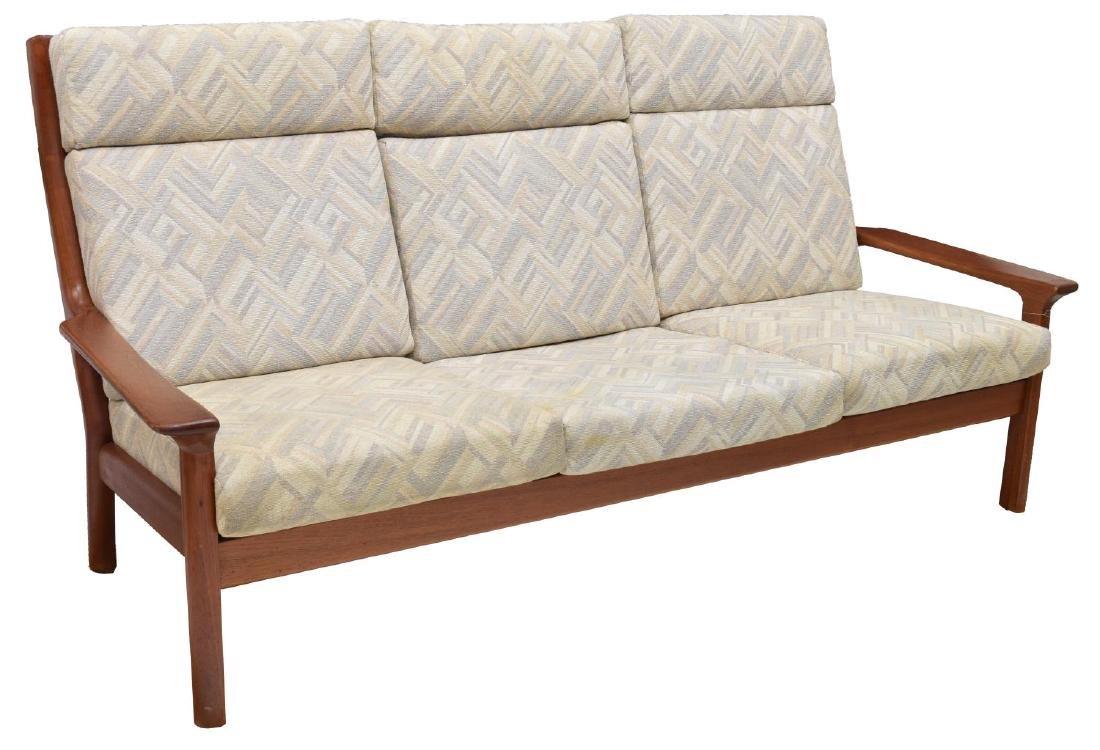 DANISH MID-CENTURY MODERN TEAK THREE-SEAT SOFA