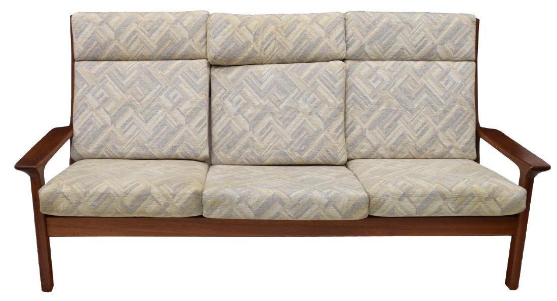 DANISH MID-CENTURY MODERN TEAK THREE-SEAT SOFA - 2