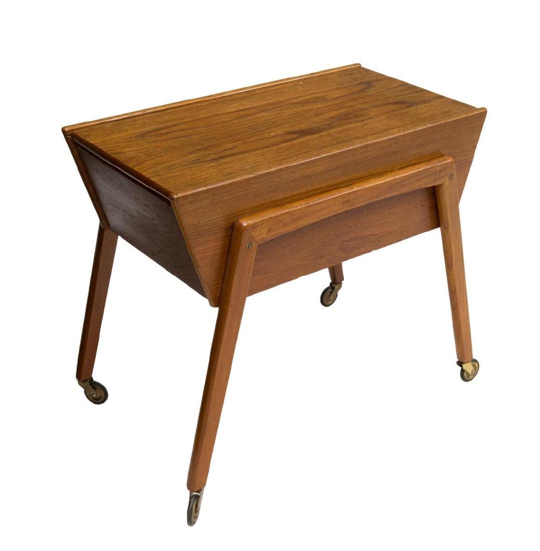 DANISH MID-CENTURY MODERN TEAK SEWING/ TASK TABLE