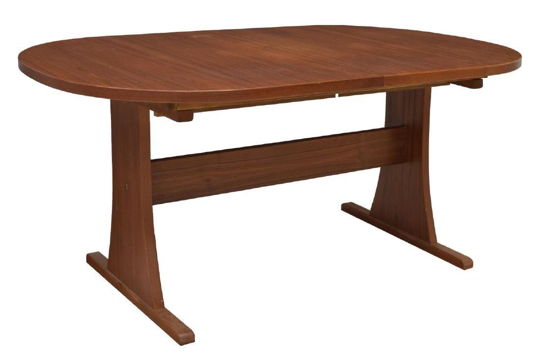 DANISH MID-CENTURY MODERN TEAK EXTENSION TABLE - 4