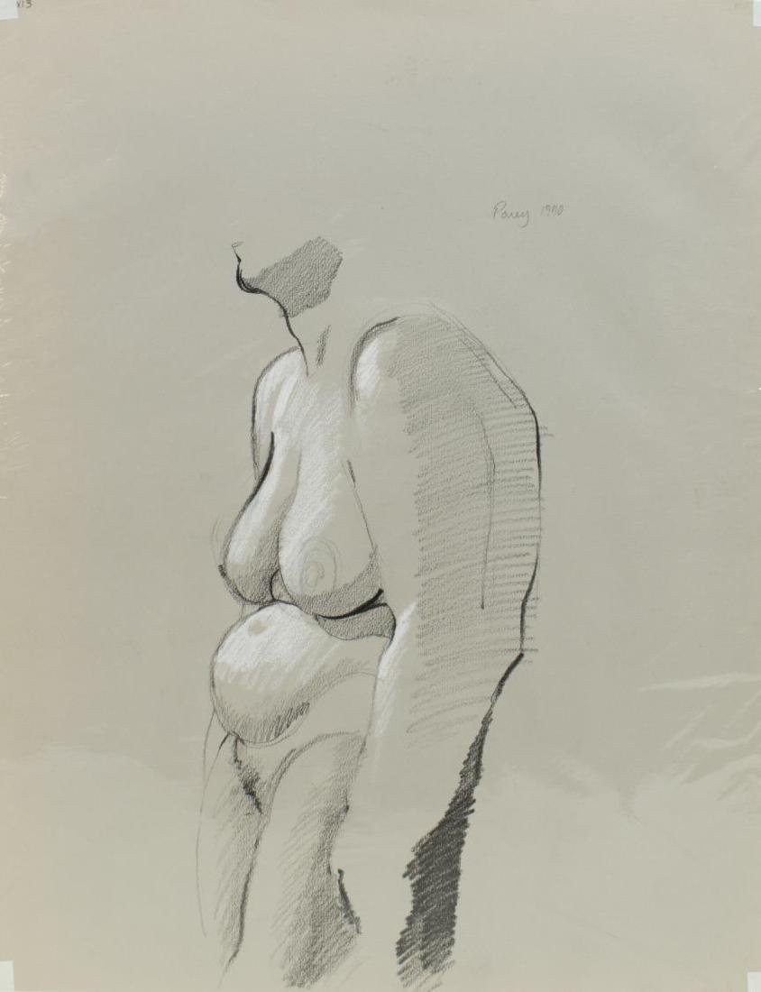 (5) EDWARD POVEY (B.1951) NUDE DRAWINGS ON PAPER - 2