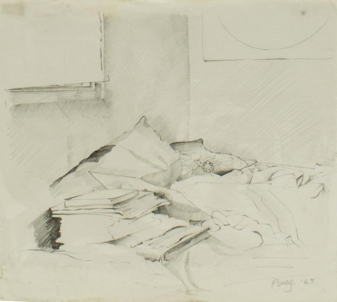 (5) EDWARD POVEY (B.1951) NUDE DRAWINGS ON PAPER - 5
