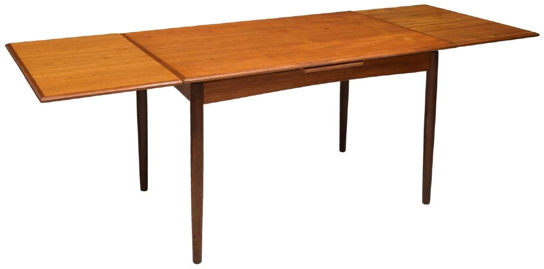 DANISH MID-CENTURY MODERN DRAW LEAF TABLE