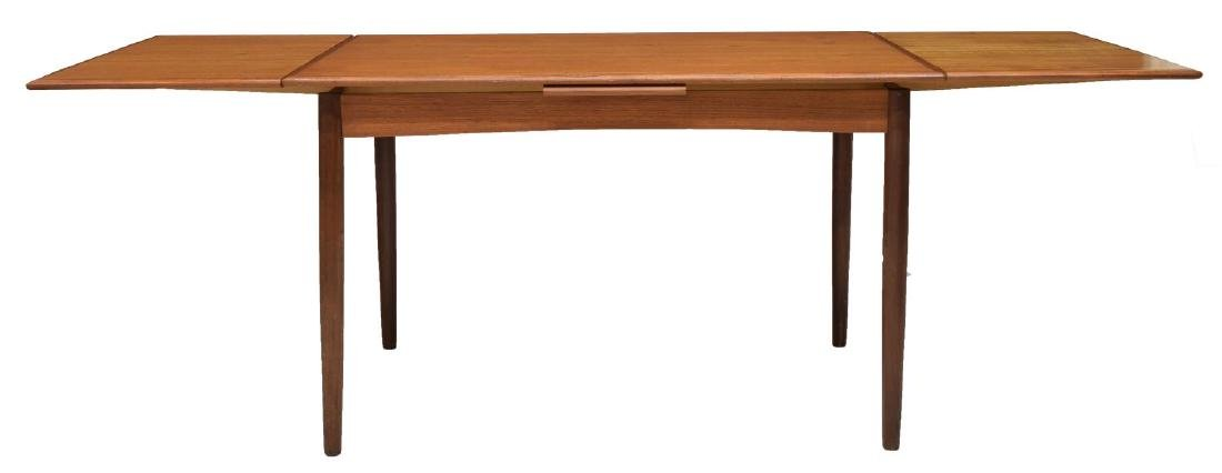 DANISH MID-CENTURY MODERN DRAW LEAF TABLE - 2