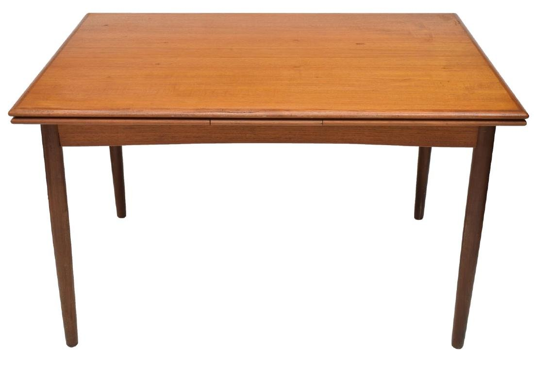 DANISH MID-CENTURY MODERN DRAW LEAF TABLE - 3