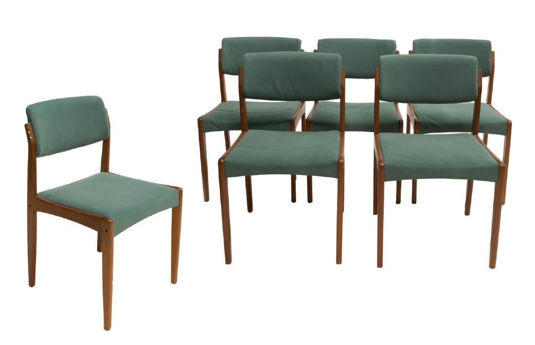 (6) DANISH MID-CENTURY MODERN TEAKWOOD SIDE CHAIRS