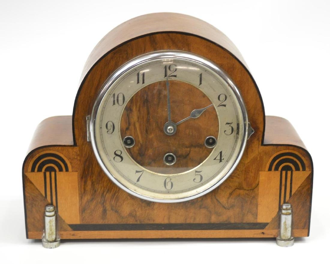 ART DECO HALLER CHIMING MANTEL CLOCK