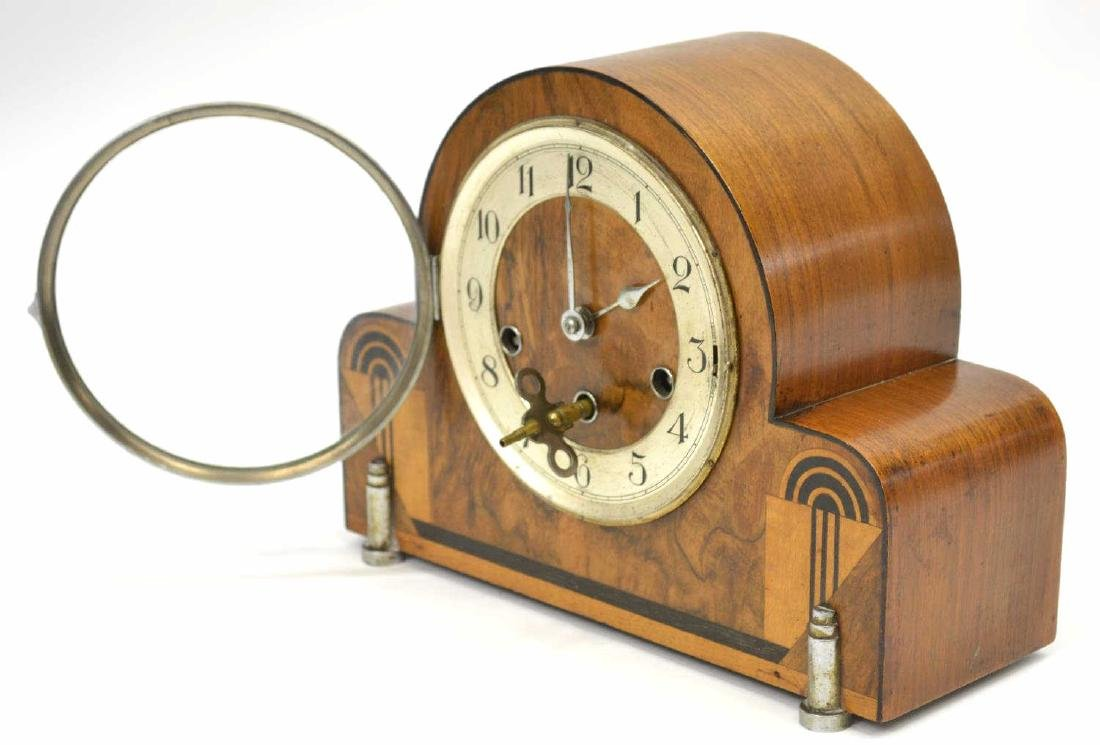 ART DECO HALLER CHIMING MANTEL CLOCK - 2