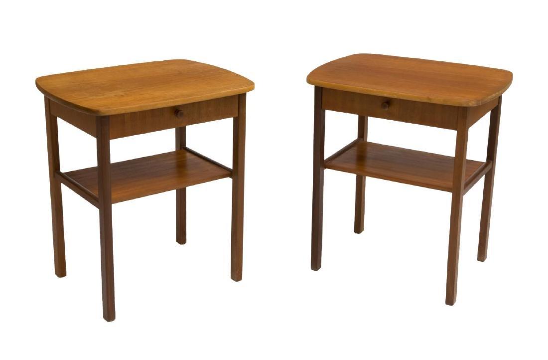 (2) DANISH MID-CENTURY MODERN TEAKWOOD SIDE TABLES