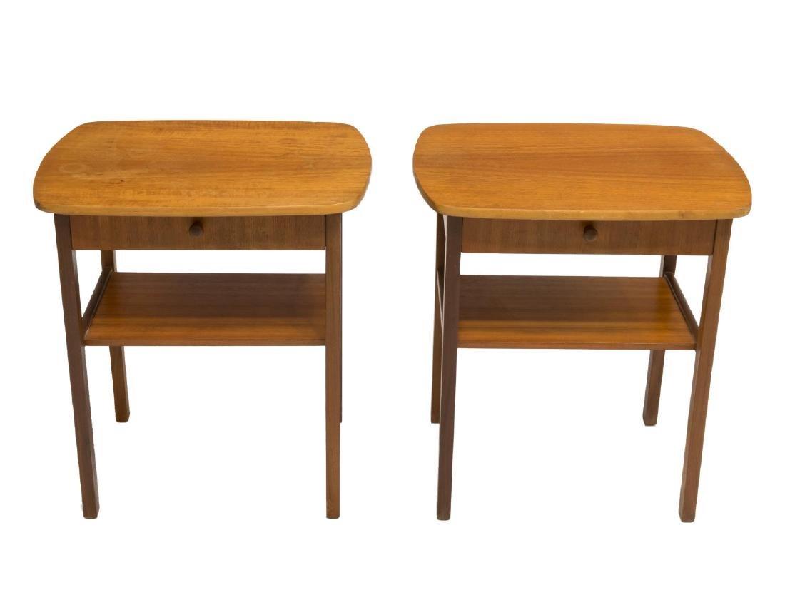 (2) DANISH MID-CENTURY MODERN TEAKWOOD SIDE TABLES - 2