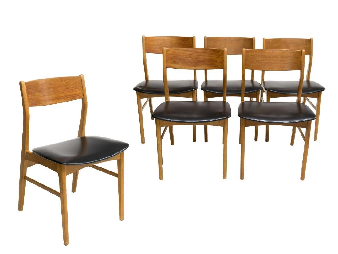 (6) DANISH MID-CENTURY MODERN TEAK SIDE CHAIRS