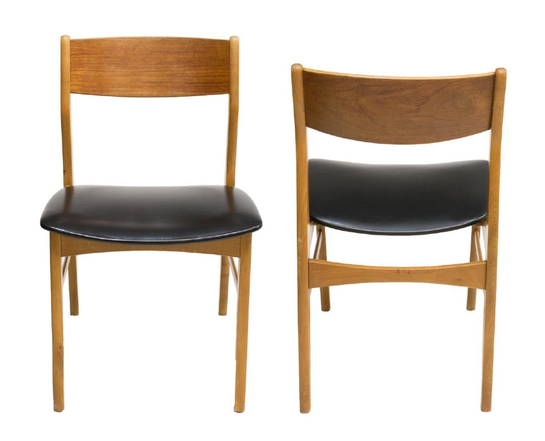 (6) DANISH MID-CENTURY MODERN TEAK SIDE CHAIRS - 2