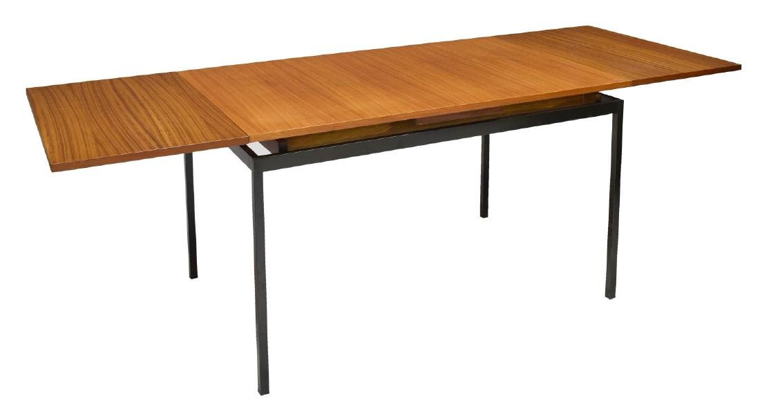 DANISH MID-CENTURY TEAKWOOD & IRON DINING TABLE