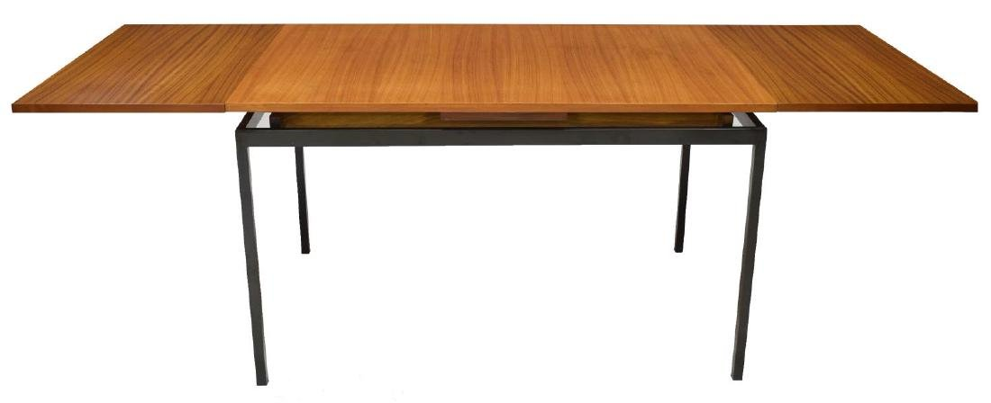 DANISH MID-CENTURY TEAKWOOD & IRON DINING TABLE - 2