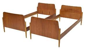 (2) DANISH MID-CENTURY MODERN TEAKWOOD BEDS